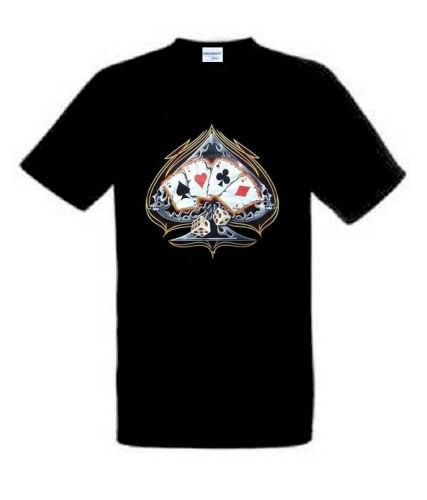 2018 New Design Short-Sleeve Vintage T Shirts fruit Of The Loom T-Shirt Poker Dice Biker Zocker Motif slim Fit Tee Shirt