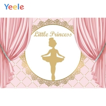 Yeele Baby Happy Birthday Party Pink Photography Backdrop Girl Princess Dance Curtain Photographic Background For Photo Studio