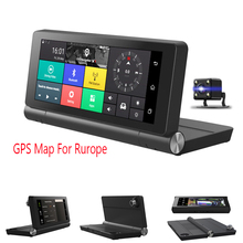 6.86 Android Car DVR Touch Screen WiFi Bluetooth 4G GPS Navigation Dual Camera with GPS Map of Europe xgody 7 709 car gps navigation truck gps navigator touch screen sat nav bluetooth optional free map spain navitel europe 2018