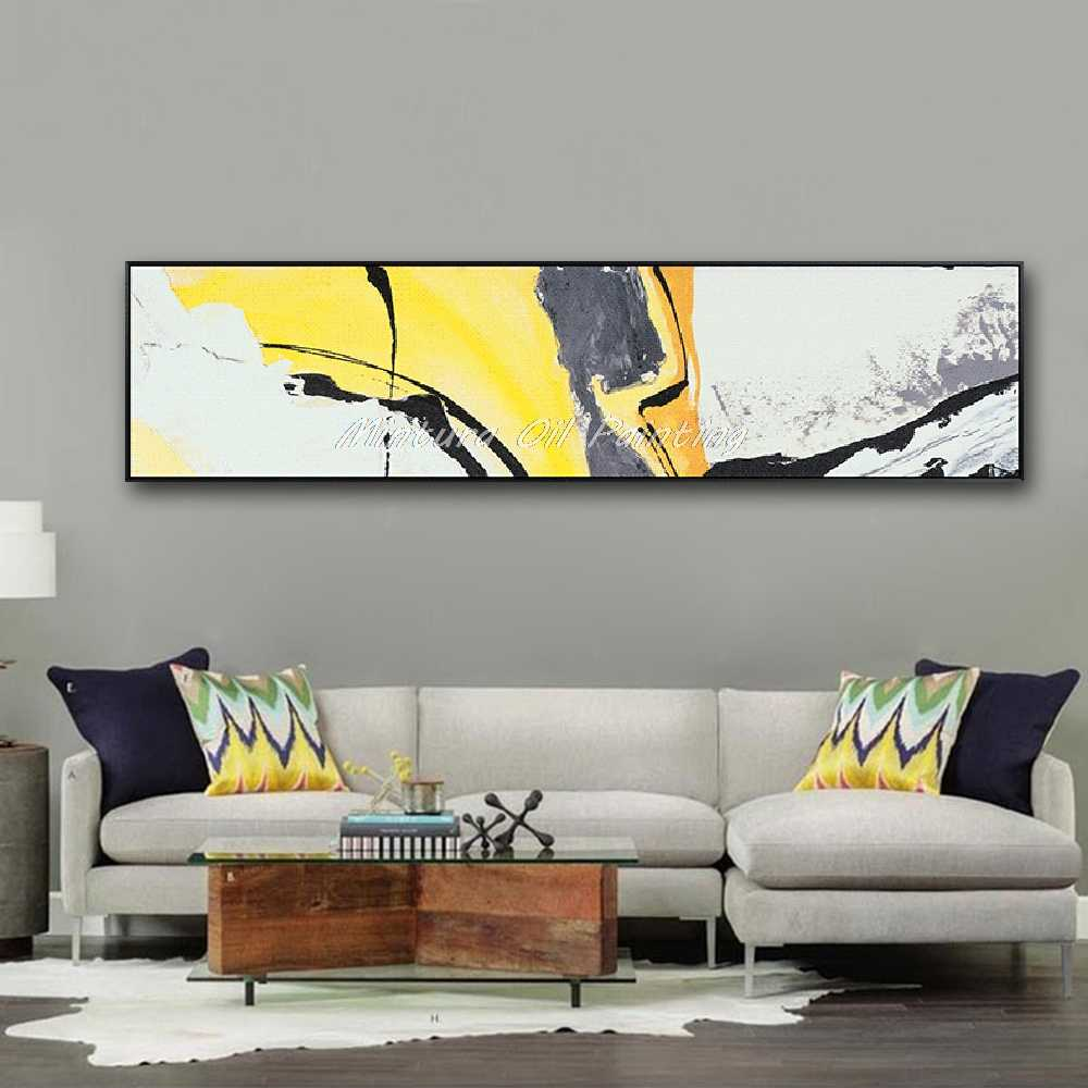 Mintura Art Hand Painted Abstract Oil Painting On Canvas Wall Art Pictures Home Decor Wall Paintings For Living Room No Framed