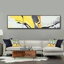 Mintura pintado a mano arte abstracto pintura al óleo sobre lienzo arte de pared fotos casa decoración pared pinturas para vivir habitación enmarcado