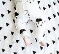 2016 Geometric Limitada Nova Venda de Musselina Cobertores Do Bebê Recém-nascido Cobertor Swaddle 100% Projetos Funções Envoltório Toalha de Banho Macia