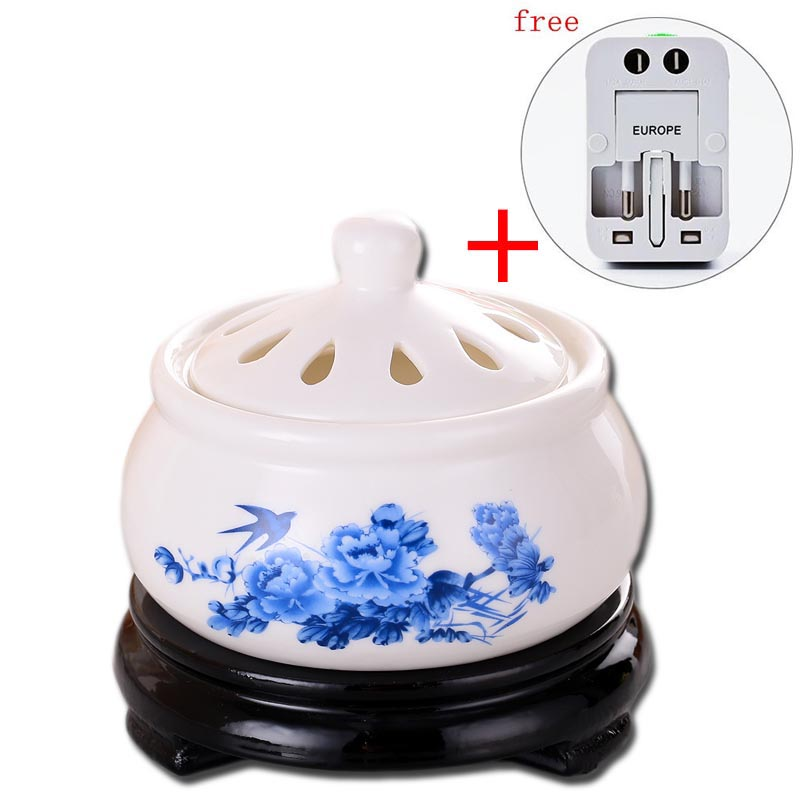 220V Creative Timing Electric Plug Ceramic Perfume Diffuser Aromatherapy Furnace Powder Incense Home Essential Oil Aroma Burner