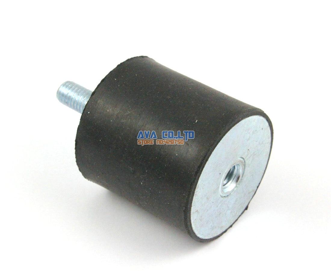 2 Pieces 40*40mm Body M8*23mm Male Female Rubber Anti Vibration Mount Bobbin Isolator 1 x 1 1 8 rubber shock absorber vibration isolator mounts m8 x 23mm