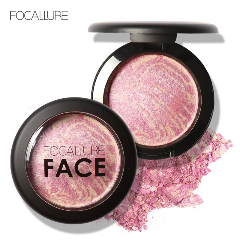 FOCALLURE Natural Face Pressed Blush Makeup Baked Blush Palette Baked Cheek Colors Cosmetic Face Shadow Press Powder 144 colors matte eyeshadow palette earth color eye shadow pressed powder natural face blush blusher palette eyebrow powder kits