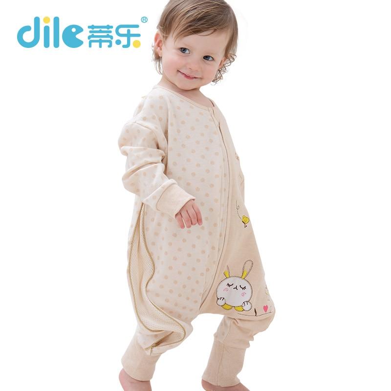 New baby sleep wear baby romper baby sleepsiut cotton kid sleep bag long-sleeve letter pattern children sleep rompers