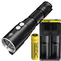 Фонарик для дайвинга NITECORE DL10 XP-L HI V3 LED MAX. 1000 лм Водонепроницаемый 30 м Дайвинг Свет Подводный факел + 18650 3500 мАч батарея