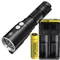 Linterna de buceo NITECORE DL10 XP L HI V3 LED máx. 1000LM impermeable 30m LUZ DE BUCEO linterna submarina + batería de 18650 3500mAh