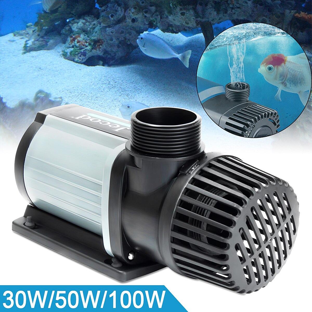30/50/100W DC Marine Aquarium Pump Submersible 3000L Super Quiet Operation Variable Flow Controller DCS  2000-12000 with Adapter