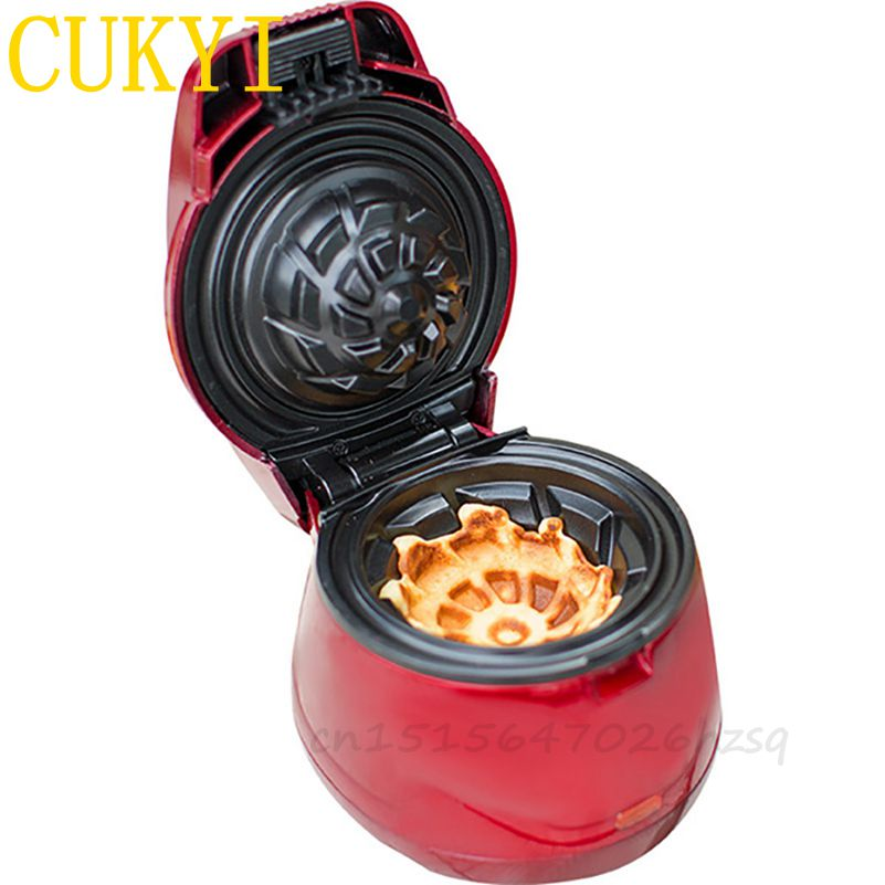 CUKYI Household electric Waffle Bowl makers double heating waffle machine 650W big power ,red foster big bowl soft 873x513 1l