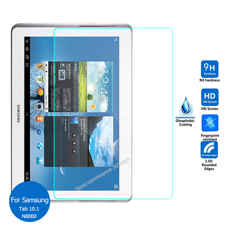 For Samsung Galaxy Note 10.1 Tempered Glass Screen Protector 9h Safety Protective Film On N8000 N8005 N8010 GT-N8000 GT-N8005