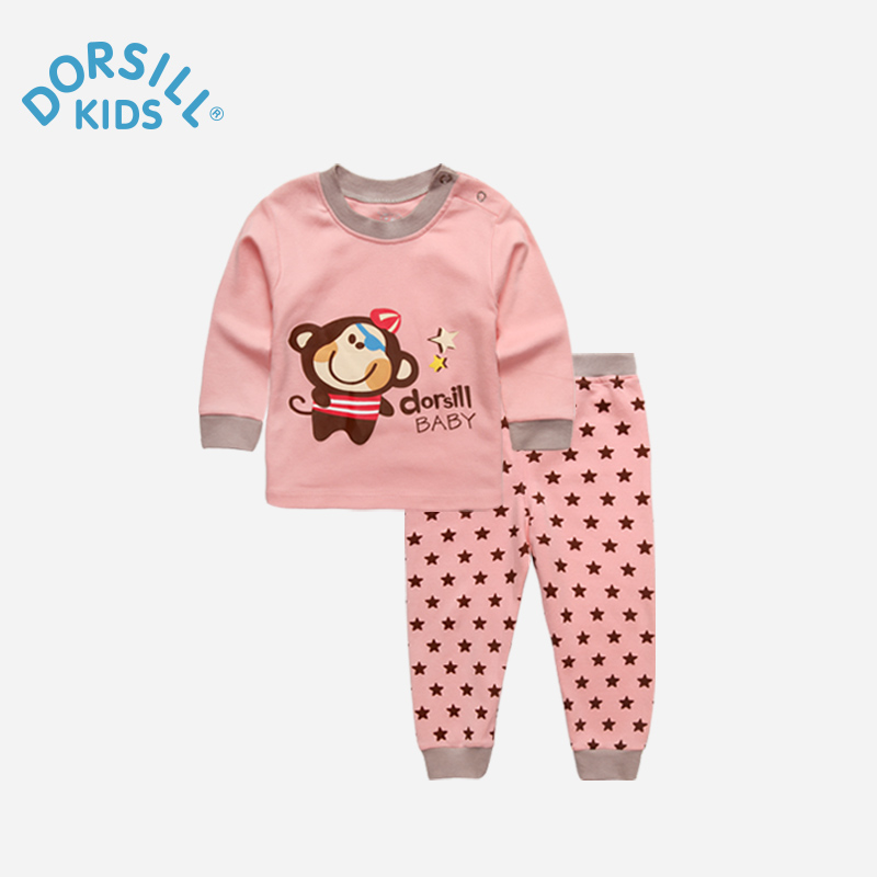 Dorsill Girls and Boys Cute Home Clothing New Fashion Autumn and Winter Pajamas Warm Long Sleeve