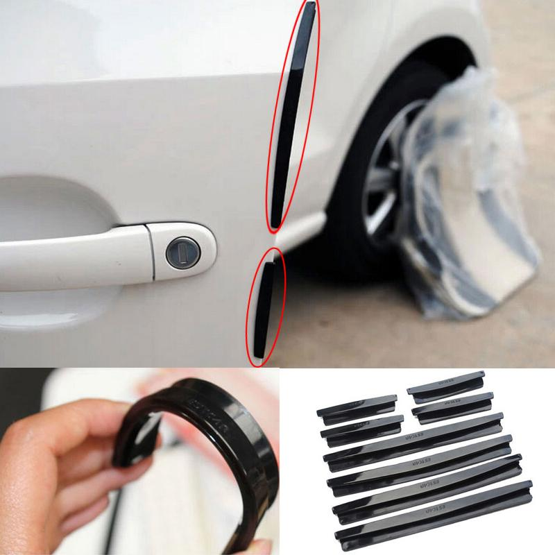 Auto Car SUV Door Edge Protector Strip Protective Scrape Bumper Guard Handle Cover 8pcs/set 4 x car door protector side edge scrape strips guard sticker auto door bumper edge guards sticker car scratch protection tape