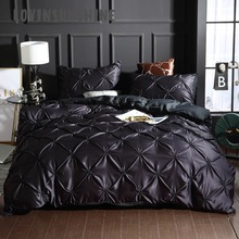LOVINSUNSHINE Luxury Bed Linen Set Duvet Queen Comforter Bedding Sets King Size Silk AB#92