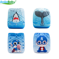 {AnAnBaby} 2019 One Size Fit All Cloth Nappy And Washable Breathable PUL Position Prints Cloth Diapers China Supplier