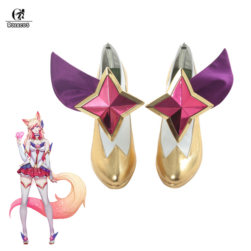 ROLECOS Ahri Star Guardian LOL Cosplay Shoes Ahri Cosplay Shoes Magic Girl the Nine Tailed Fox