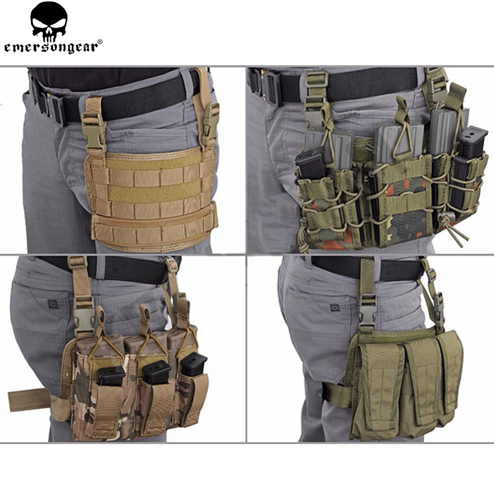 EMERSONGEAR Modular Rife Leg Panel Pouch Tactical Molle Drop Leg Pouch Hunting Pistol Gun Holster Tools Molle Pouch EM6277