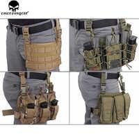 EMERSONGEAR Modulare Rife Pannello Leg Pouch Tactical Molle Piedino Di Goccia Del Sacchetto di Caccia della Pistola della pistola Holster Strumenti Molle Del Sacchetto EM6277