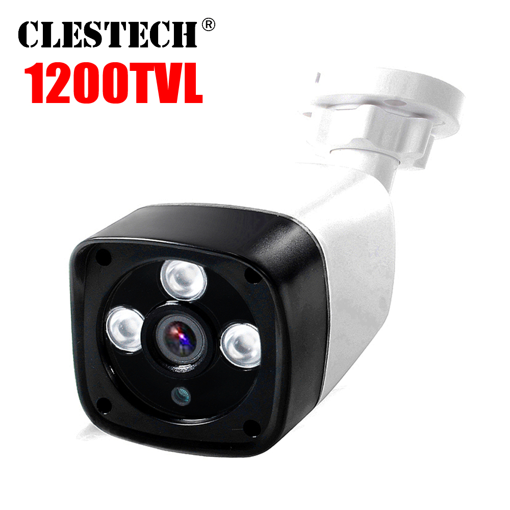 3led Array 1/3Cmos Real 1200tvl HD Cctv Camera Ircut Hd Color Image Infrared Outdoor Waterproof Ip66 Video Surveillance Products