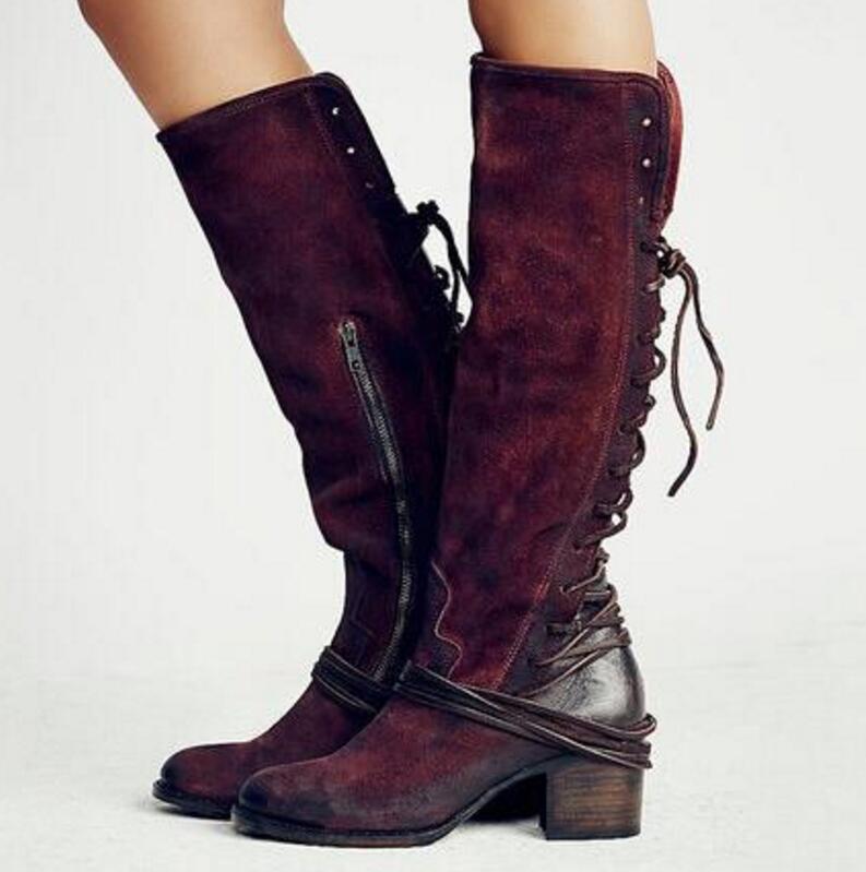 e4d0433107c SAVE  20 + FREE SHIPPING! Women Chunky High Heels Knee High Boots