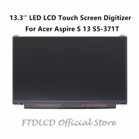 FTDLCD 13.3'' For Acer Aspire S 13 S5 371T LED LCD Touch Screen Digitizer Replace Laptop Computer Component 1920x1080
