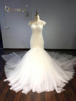 Romantic Scoop Neck Backless Princess Mermaid Wedding Dress 2018 Gorgeous Appliques Robe De Mariage Bride Gown