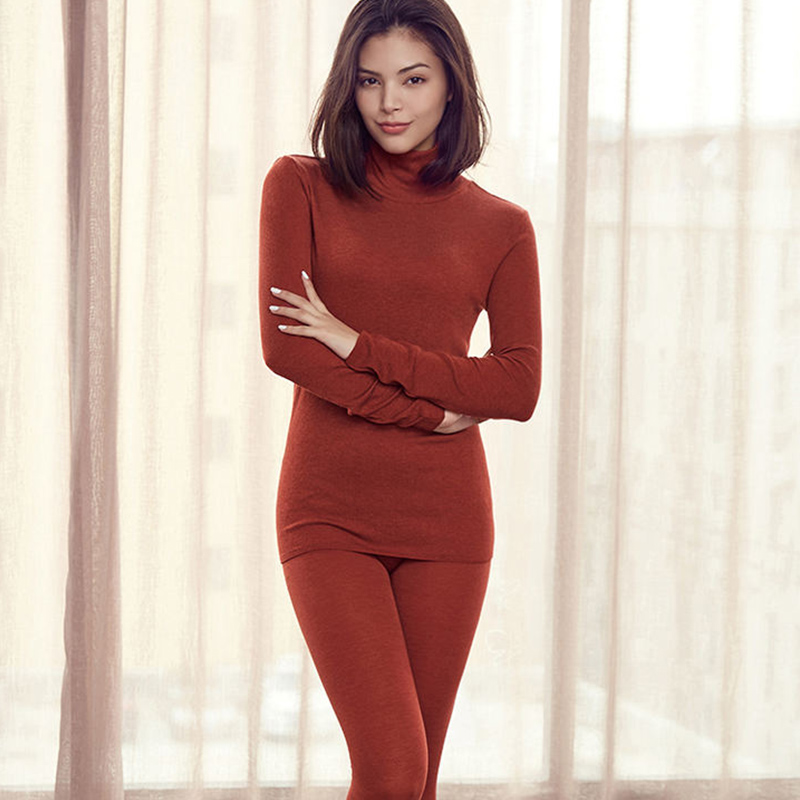2019 NEW Winter Constant Temperature Thermal Underwear For Women Ultrathin Elastic Thermo Underwear Knitted Thermal Sweater Suit