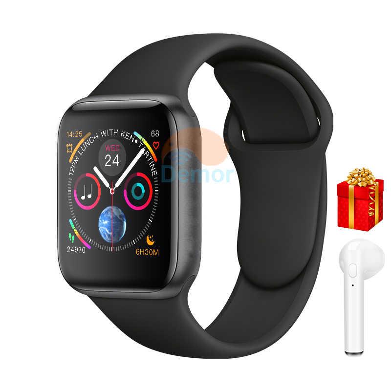 Bluetooth Смарт Браслет для проверки сердечного ритма 8 44 мм Подключение Smartwatch для мужчин женщин iOS iPhone 5 6 7 9 huawei 2 sony 3 Android телефон Apple Watch 4