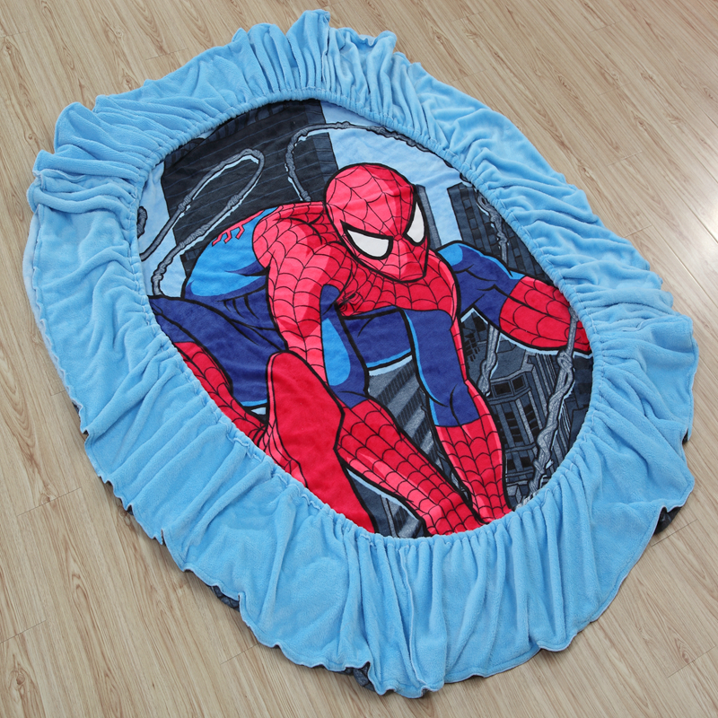 Disney Spiderman Flannel Fitted Sheet with an Elastic Band Bed Sheets Linen Bedspread Polyester Mattress Cover Single Twin Full ...