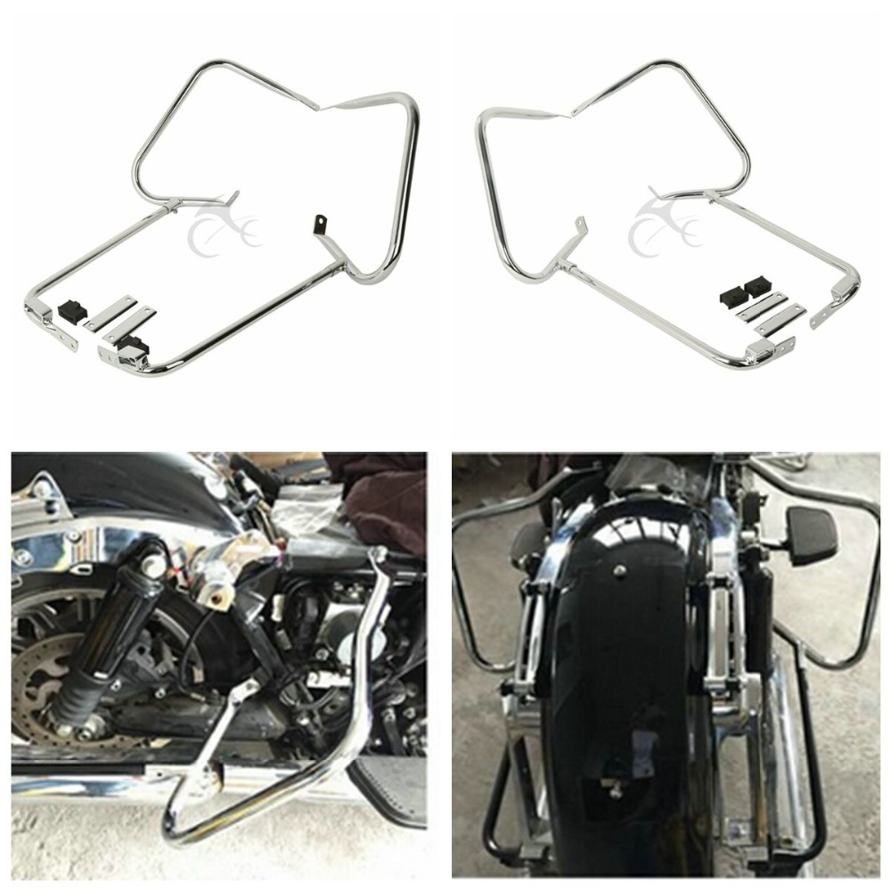 Saddlebag Bracket Guard Bar For Harley Touring Models Road King Glide 1997-2008