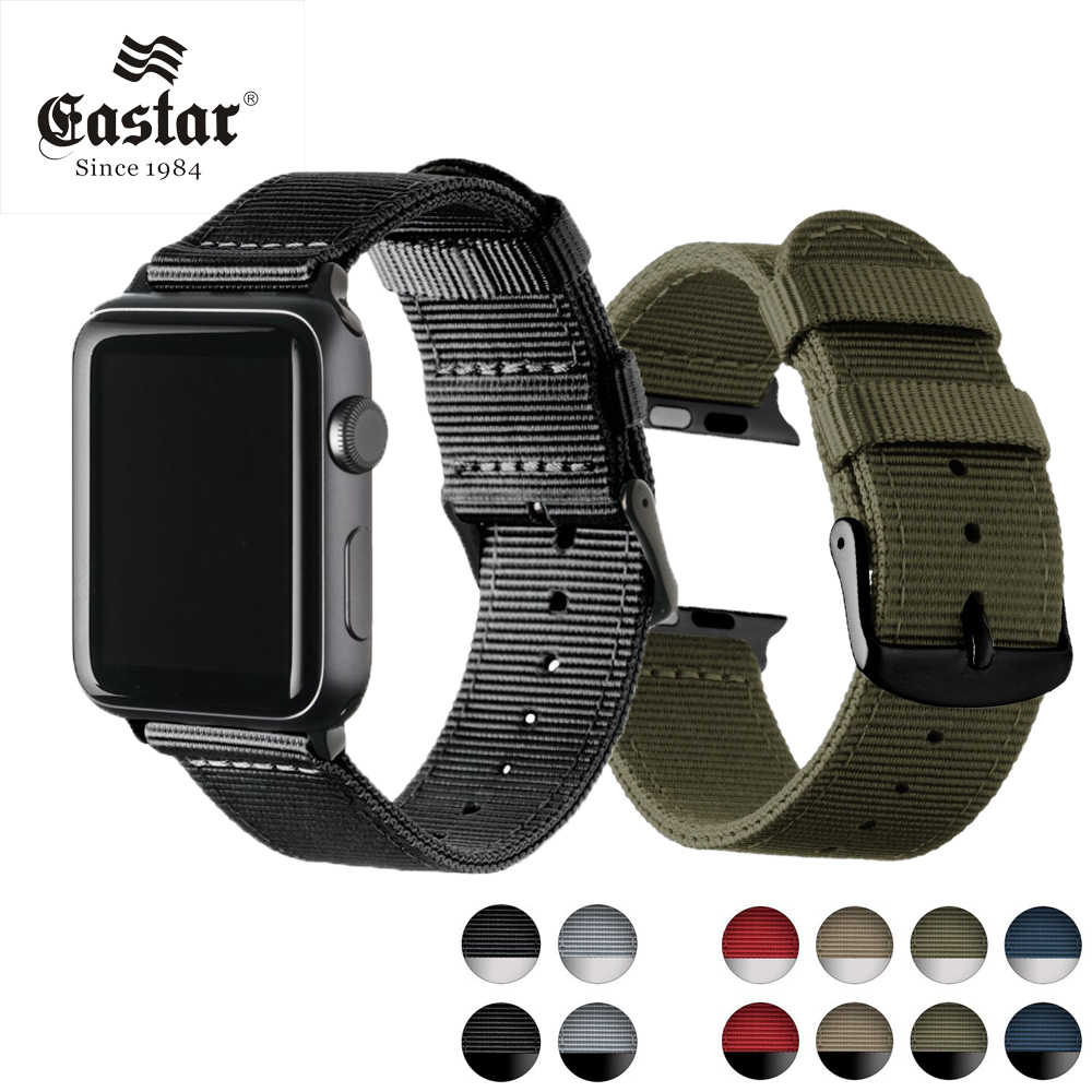 Eastar Lightweight Breathable waterproof Nylon strap for apple watch band 42mm 38mm for iWatch serise 3 2 1 watchband Sport Loop