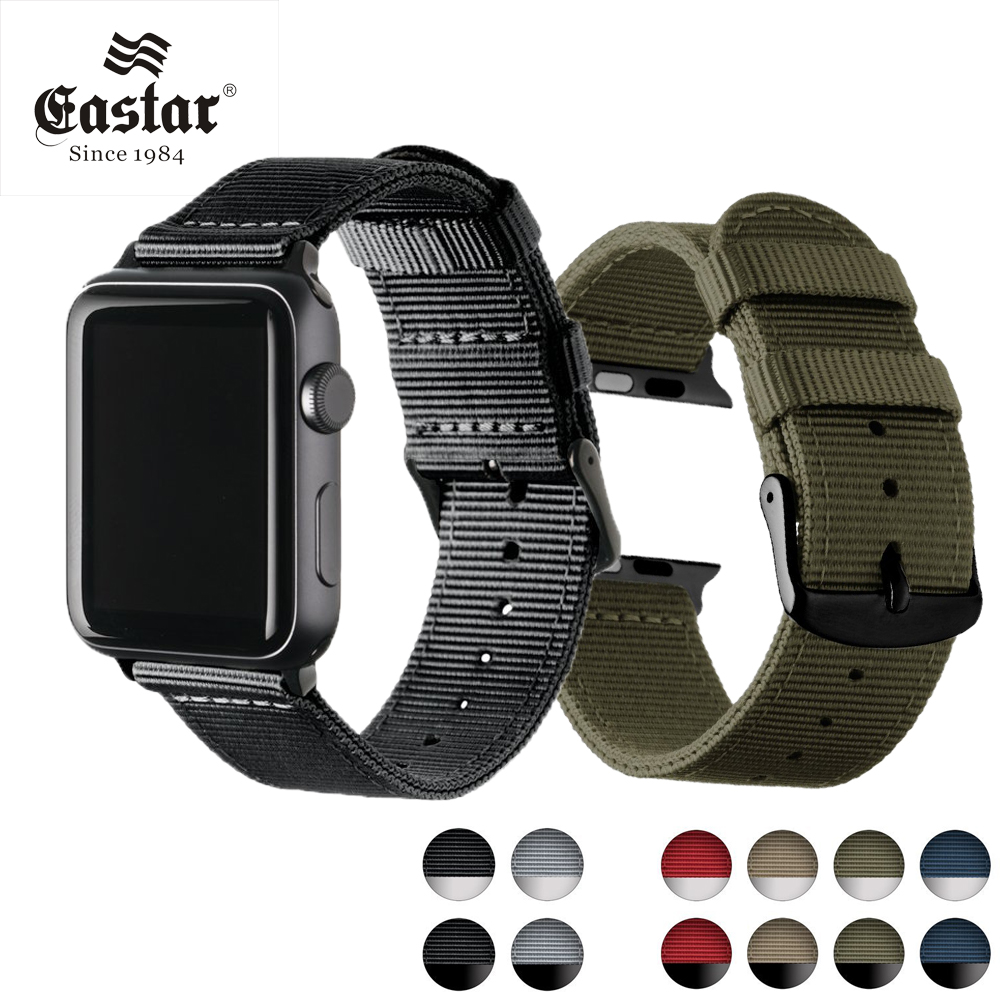 Eastar Lightweight Breathable waterproof Nylon strap for apple watch band 42mm 38mm for iWatch serise 3 2 1 watchband Sport Loop new sport loop for apple watch band 42mm 38mm iwatch 4 3 2 1 watch strap bracelet breathable lightweight weave nylon loop strap