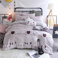 INS Style Four Sets Of Bed Washed Cotton Sleeping Cotton Bed Linen Quilt Cover Cotton Simple Embroidered Bed Soft Comfortable