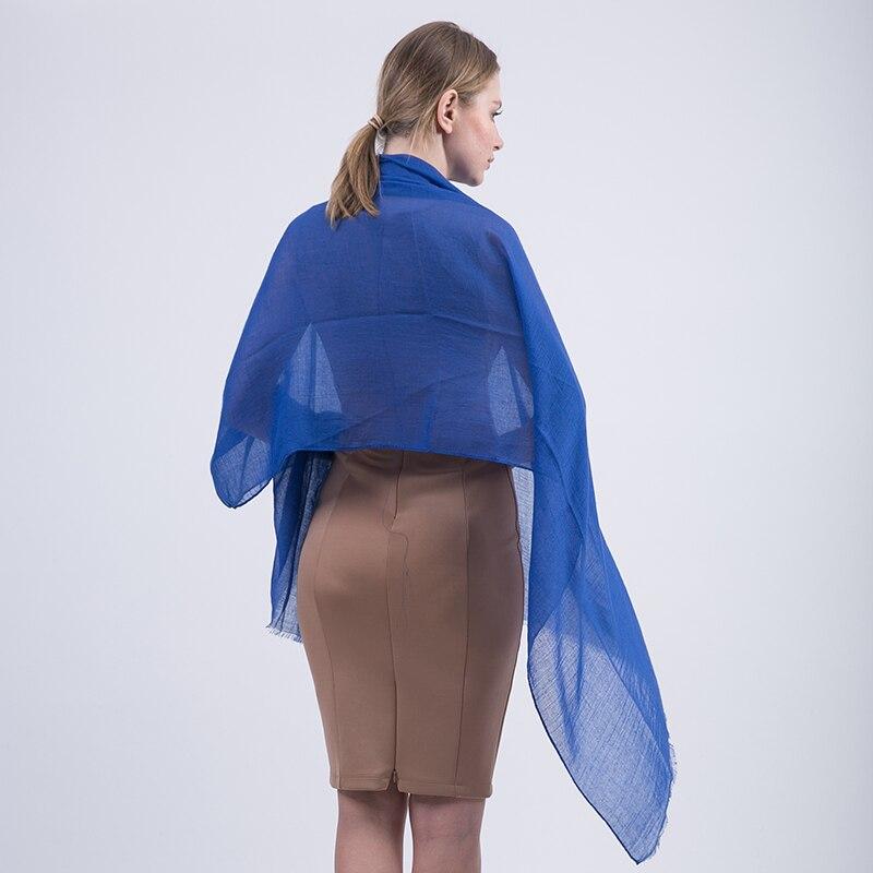 [Jinjin. QC] Женская мода шарф зимние однотонные мужские шарфы и платки Джерси хиджаб echarpes платки бандана 20 видов цветов