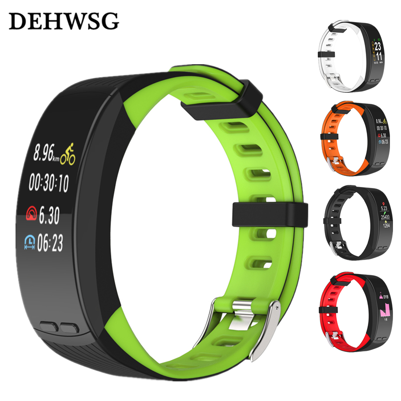 DEHWSG GPS Activity Tracker Smart Band P5 color screen Heart Rate Monitor Wristband Fitness Tracker Sport Watch For IOS Android smart bracelet waterproof dw06 android watch gps sport band fitness tracker heart rate monitor pedometer wristband for men women