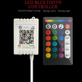 цена Music RGB RGBW Led Strip Controller Wireless RF 24 Keys Remote Control For Led Light RGB Controller Bluetooth Control 5-24V онлайн в 2017 году