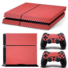 Red Carbon Fiber PS4 Skin Sticker