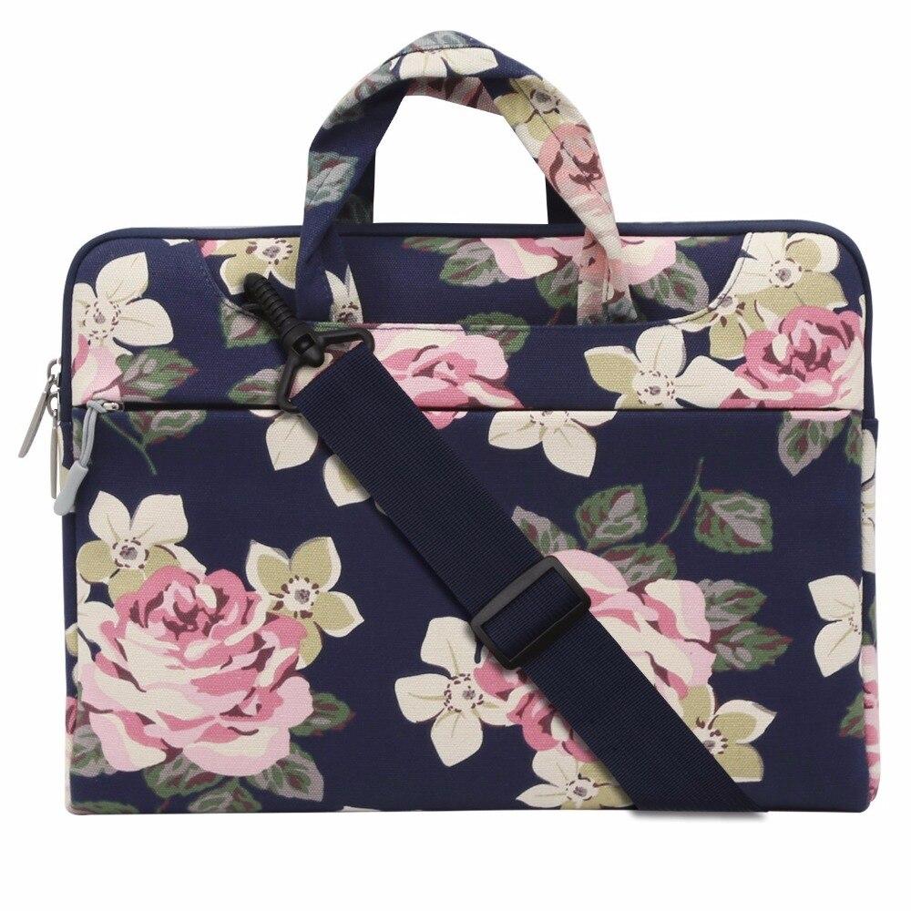 Mosiso Floral Rose Frauen Notebook tasche für Macbook Air 13 HP DELL Acer Chromebook 11,6 13,3 14 15,6 Loptop aktentasche