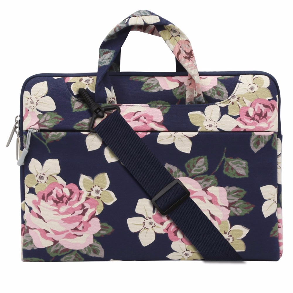 Mosiso Floral Rose Women Notebook Case bag for Macbook Air 13 HP DELL Acer Chromebook 11.6 13.3 14 15.6 Loptop Briefcase ароматизатор воздуха medisana ad 630