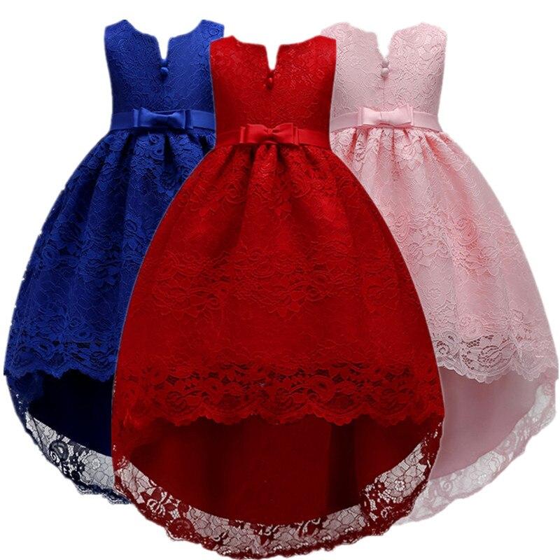 White Kid Girls Wedding Flower Girl font b Dress b font font b Elegant b font