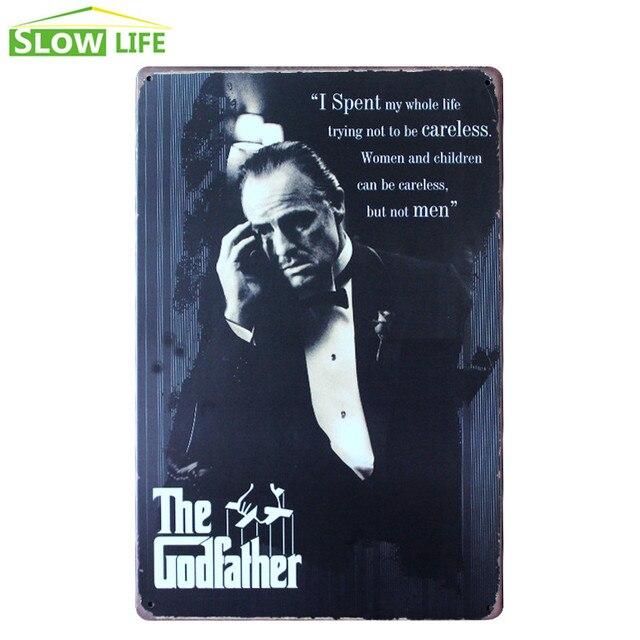 film the godfather metal tin sign bar wall decor tin sign vintage