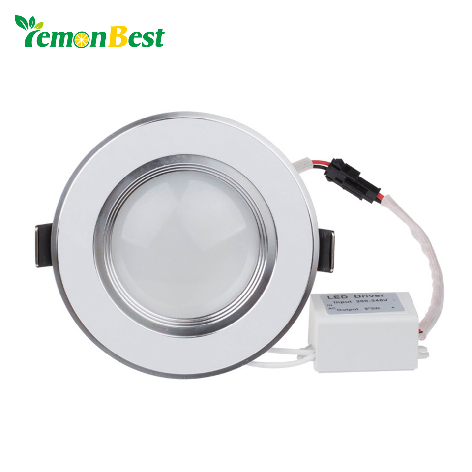 LemonBest Dimmable Ultra thin Led Downlights 3W LED down light lamp Recessed Spot light  For Home Lighting Decoration(China)