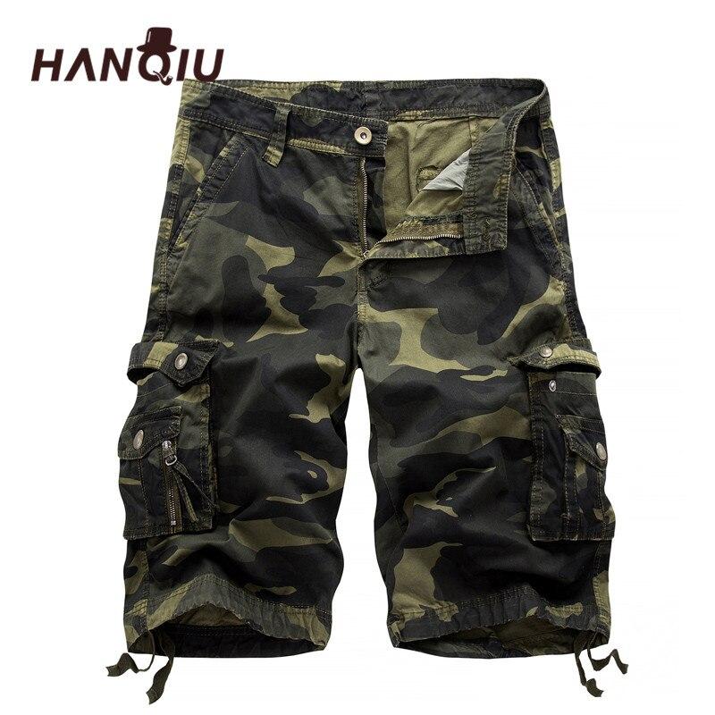 2018 militar Camo Cargo Shorts verano moda camuflaje Multi-Bolsillo hombre ejército Casual Shorts Bermudas Masculina