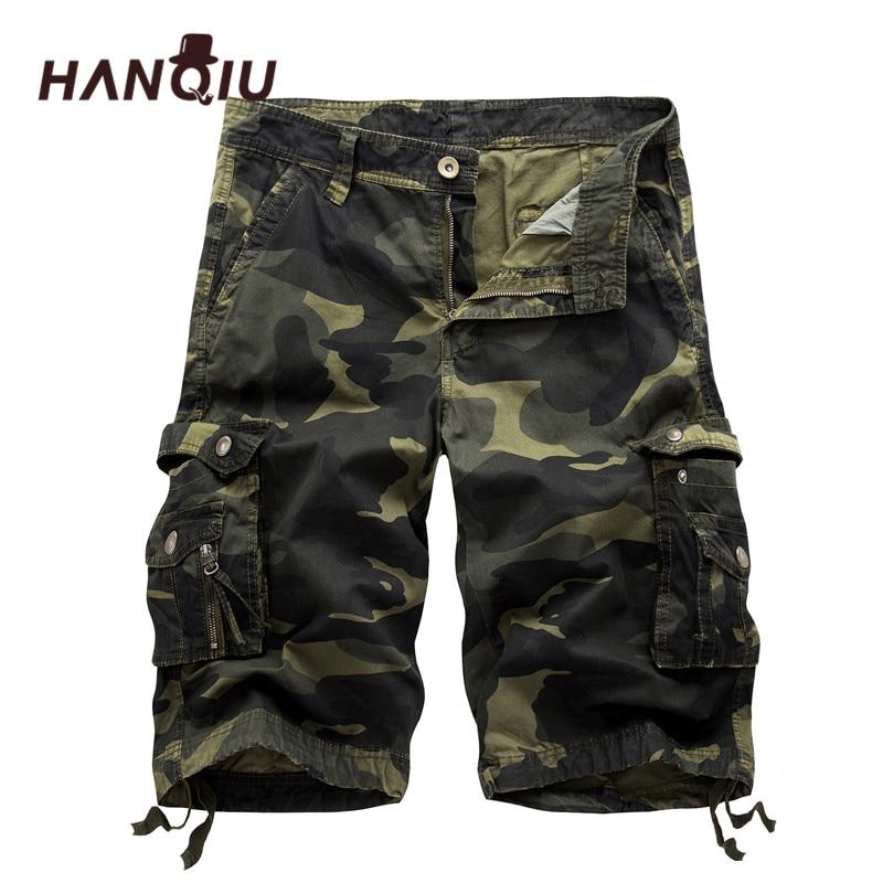 2019 Military Camo Cargo Shorts Summer Fashion Camouflage Multi-Pocket Homme Army Casual Shorts Bermudas Masculina