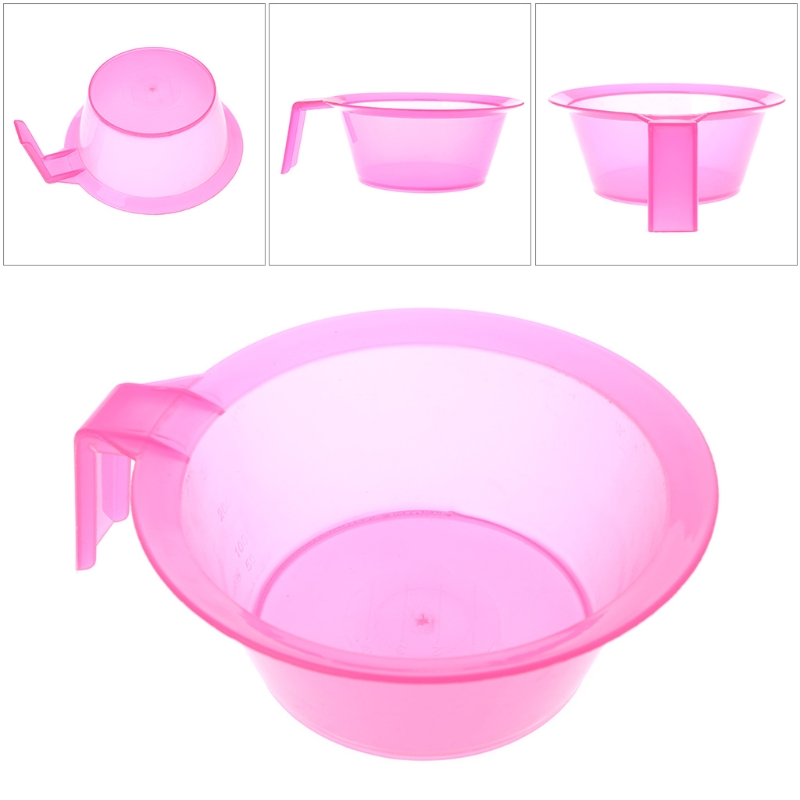 1PC Pink 300ml Coloring Mixing Dye Bowl DIY Hair Styling Pro Hair Salon Hairdressing Tool New Plastic Bowl