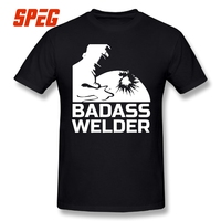 Summer T Shirt Badass Welder T Shirt Man Slim Fit Short Sleeved Clothing Leisure Youth Tee