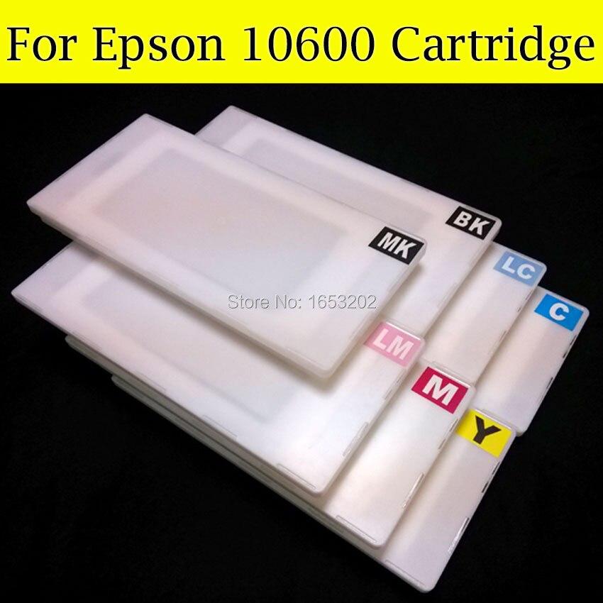 7 Pieces/Lot Refill Ink Cartridge For Epson 10600 10000 Printer With Show Ink Level Resettable Cartridge Chip самсонова елена владимировна если покупатель говорит нет 4 е изд