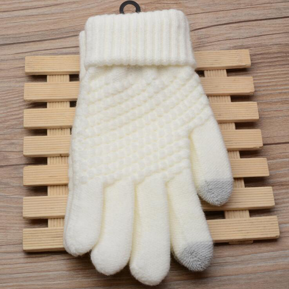 Comfortable Solid Magic Gloves Women Girl Female Stretch Knit Gloves Mittens Hot Winter Warm Accessories Wool Guantes