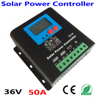 36V Battery Charger Regulator for 1800W Solar Panels LCD Display Charging Off Grid Solar Charge Controller 50A 36V solar system