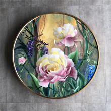 Pure manual suzhou embroidery peony flower painting living room finished bedroom porch picture